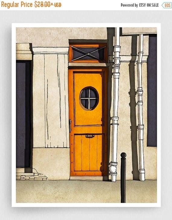30 Off Sale Secret Door Paris Illustration Giclee Art