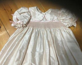 Hand made Dupion silk dress size 1yr