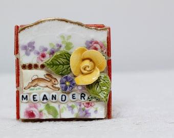 MEANDER, BUNNY, Bunnykins, mosaic art, mosaic