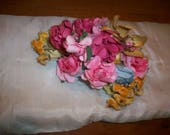 flower garland silk antique