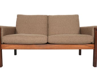 Danish Mid Century Modern Hans Wegner Model AP62 Loveseat in Rosewood