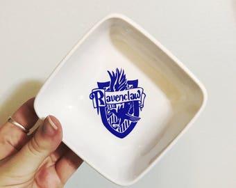 Ravenclaw Ring Dish | Hogwarts Houses Ring Tray | Harry Potter Trinket Dish | Ravenclaw Crest | Eagle | Jewelry Holder