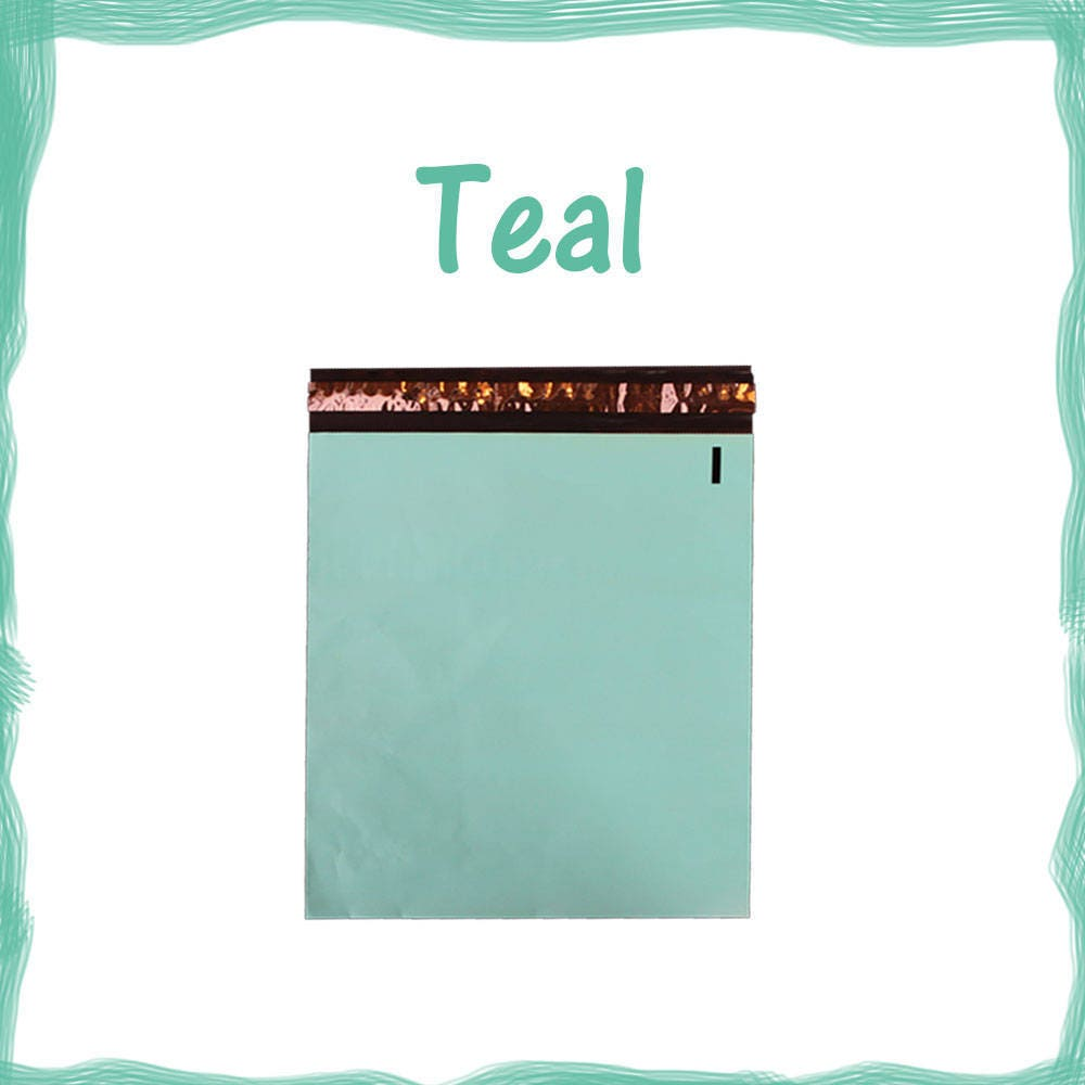 50 100 12x15 5 pink and teal flat poly mailers mailing for 12x15 calculator