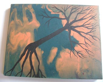 Walking Inferno - Original Acrylic Painting - Stretched Canvas - 10 x 8