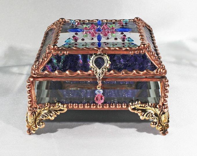 Jewel Encrusted Treasure Box -4x4