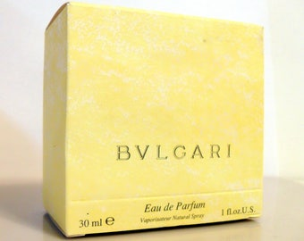 Vintage Perfume 1990s Bvlgari (Pour Femme) by Bvlgari 1 oz  Eau de Parfum Spray Empty Box No Bottle