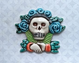RESERVE HA Day of the Dead Skull - Ceramic Tile  - Mosaic Supply