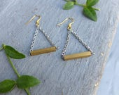 Gold Bar Earrings, Dangle Gold Bar Earrings, Dangle Earrings, Earrings for Bridesmaids, Wedding Earrings, Gifts Under 20, Gift for Her