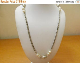 ON SALE SARAH Coventry Faux Pearl Station Necklace Item K # 3134