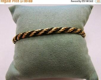 ON SALE TRIFARI Black and Gold Tone Bracelet Item K # 485