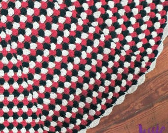 Granny Stripe Tree Skirt - Crochet PATTERN PDF ONLY
