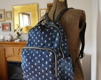 Lightweight Denim Ladies Dslr Camera Backpack   Padded Backpack Camera Bag