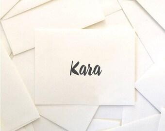 Reserved for Kara (4) Rachel Suite Escort Cards