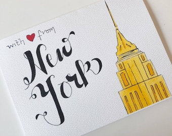 New York Greeting Card - Empire State Building - 'With Love from NY'