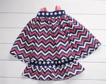 Baby Girl Patriotic - Girls Dresses - Infant Shorts and Dress - Red Outfit  - Blue Dress and Shorts - White Dress - Baby Sundress - Bloomers