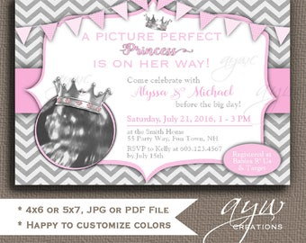 princess baby shower invitations girl with ultrasound picture baby shower invitations printable princess baby shower girl