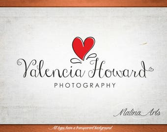 Business Logos. Text Logo and Watermark. Premade logo. Heart logo BUY 2 and GET 1 FREE!!!