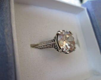 Edwardian Era Style Engagement Ring- Antique Reproduction Ring - Engagement Ring