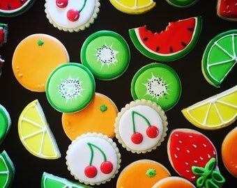 Colorful fruit cookies