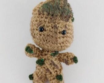 Baby Groot Amigurumi Doll - READY TO SHIP