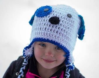 Puppy Hat/Custom colors/Puppy/Dog hat/Doggy hat/take home outfit/baby gift/animal hat
