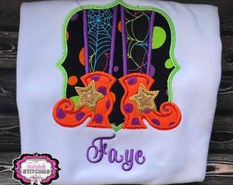 Girl Halloween Shirt, Halloween Shirt, Witch Feet Shirt, Witch Shirt, My First Halloween