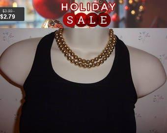 Castlecliff multi strand bead necklace, estate jewelry, vintage necklace