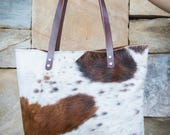Cowhide Leather Tote   Leather Tote   Leather Bag   Cowhide Bag   Cowhide Tote