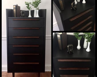 SOLD   Mid Century Modern Dresser, MCM Dresser, MCM Chest, Vintage Dresser, Modern Dresser, Pick Up Only
