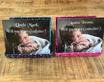 Will you be my Godmother puzzle - Will you be my Godfather puzzle - custom photo puzzle - personalized puzzle