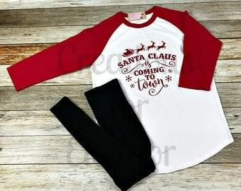 Christmas T-shirt, Womens Christmas Shirt, Christmas Tshirt, Womens Christmas Tshirt, Christmas, Raglan Sleeve, Baseball, Holiday Tshirt