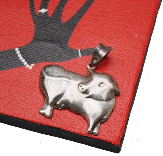 Sterling Cow Pendant -Silver figurine pendants
