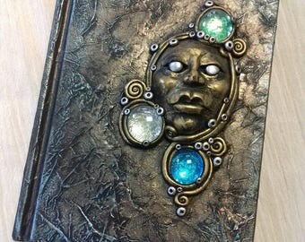 One of a kind hand sculpted journal -a6