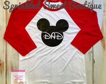 Minnie Mom Mouse Custom Inspired Raglan Baseball Shirt Women Men Kid Child Family Perfect for Disney World Matching Family Trip