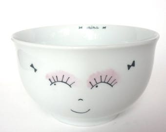 Girl personalized coquinette porcelain bowl