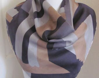 """Gray Vintage Silk Blend Scarf 26"""" Square - Affordable Scarves!!!"""