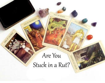 Stuck in a Rut Tarot Card Reading, Oracle Cards Same Day Reading, Advise Cards Tarot Reading, Psychic Reading, Clairvoyant Life Coaching