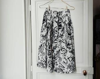 Vintage 80 black and White skirt