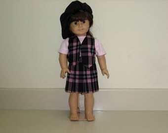 American girl doll skirt and vest