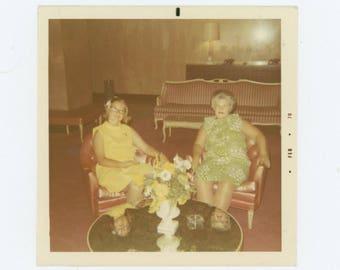 Tabletop Reflections, 1970: Vintage Snapshot Photo (77594)