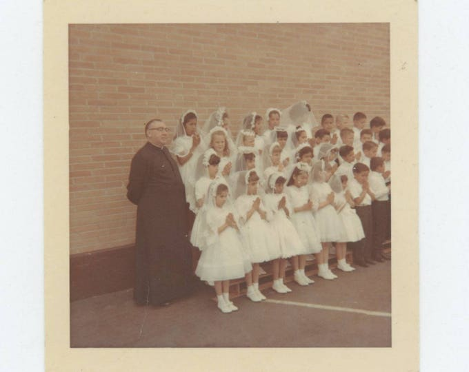 Vintage Snapshot Photo: First Communion c1960s (711620)
