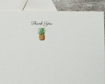 Pineapple Note Cards with Envelopes | Personalized Notecards Handmade | Custom Notecards | Coworker Gift | Stocking Stuffer | Gift for Her