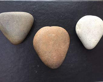 Natural Heart Shaped Rocks, Stones, for Painting Mandala, Etching or Collecting