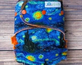 Custom Starry Night Turtle Cloth Diaper
