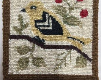 Cheticamp Hand Hooked Trivet