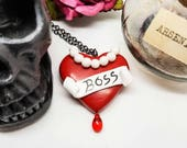 Rocky Horror Picture Show, Rocky Horror Necklace, Boss Heart Tattoo Necklace