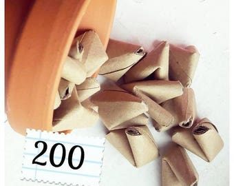 200 kraft paper origami heart love quotes - wedding - simple decor - free delivery - wedding favour