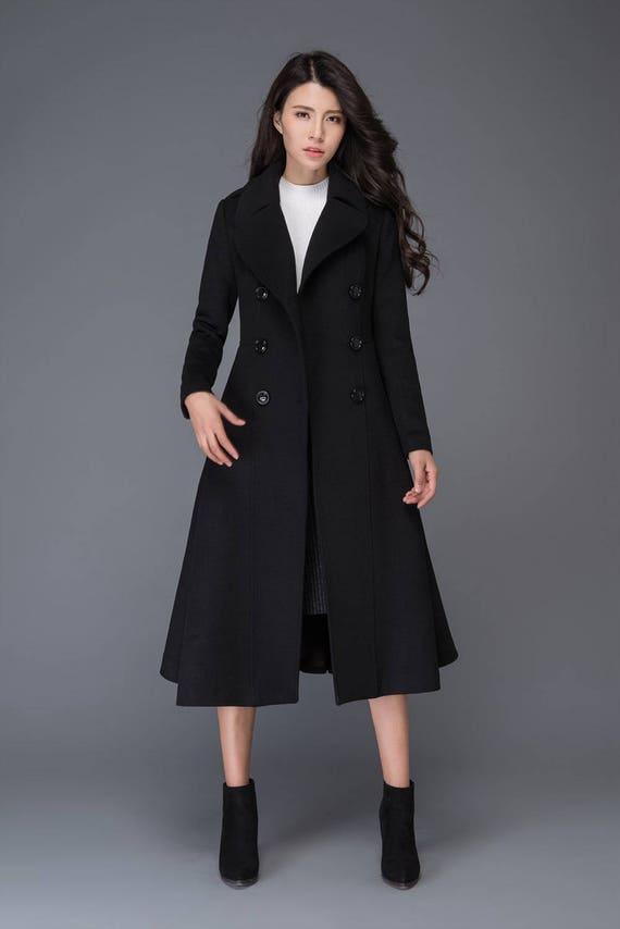 long black coat Wool coat winter coat womens coats womens