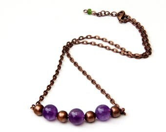 Amethyst necklace, amethyst jewelry, amethyst pendant, crystal necklaces, handmade, gemstone necklace, stone necklace, amethyst stones