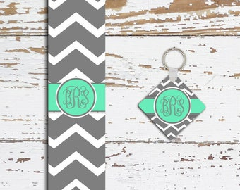 Monogrammed seat belt cover , Turquoise interior car decor , Chevron auto decoration , Gifts for her (1064)